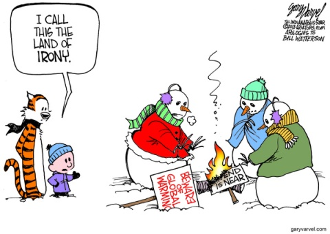 Cartoonist Gary Varvel: Calvin's Global Warming snowmen